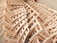 Chairs from massive beach wood
